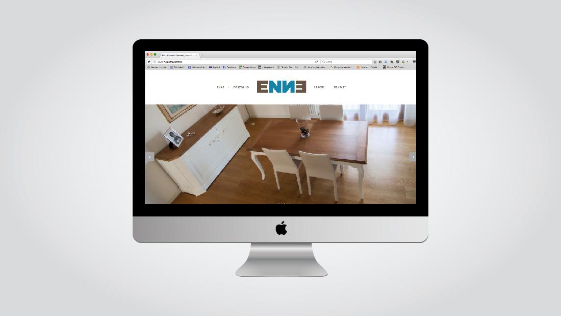web design ENNE homepage