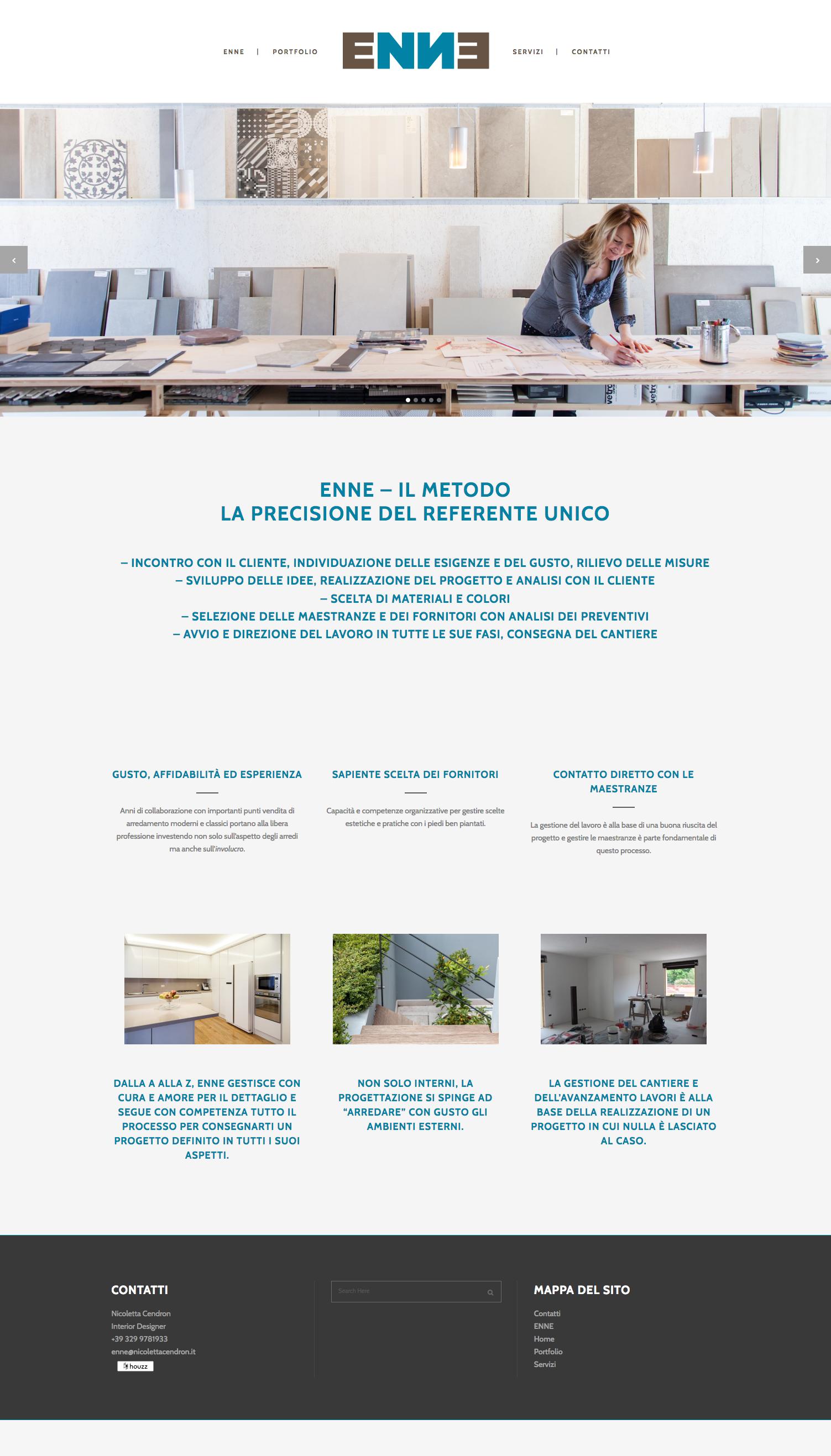 web design ENNE pagina sito